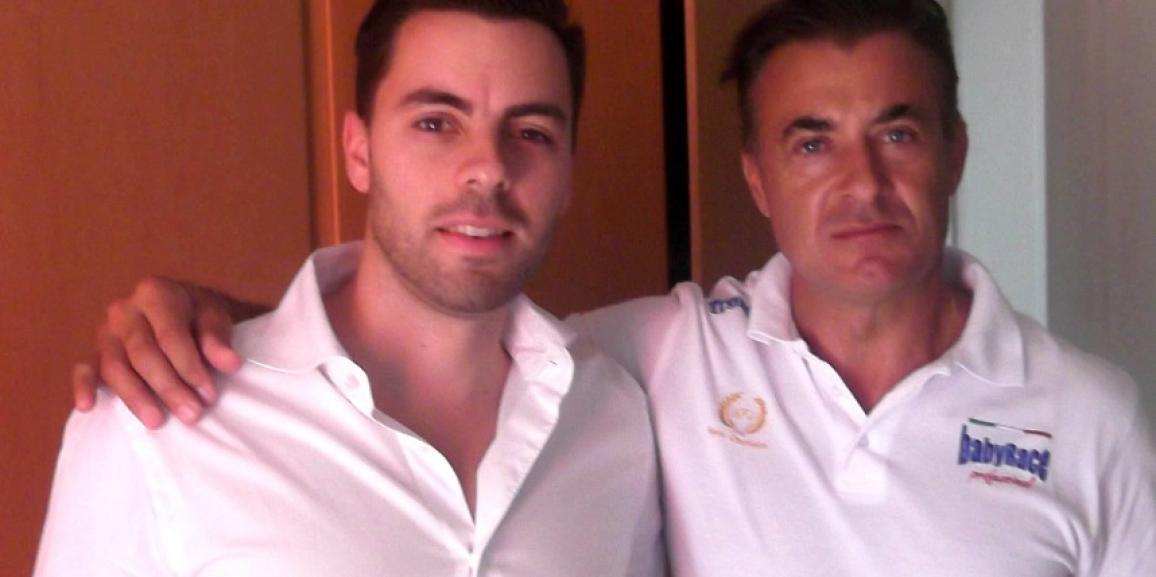 Federico Crozzolo incontra l'ex pilota di F1 Jean Alesi