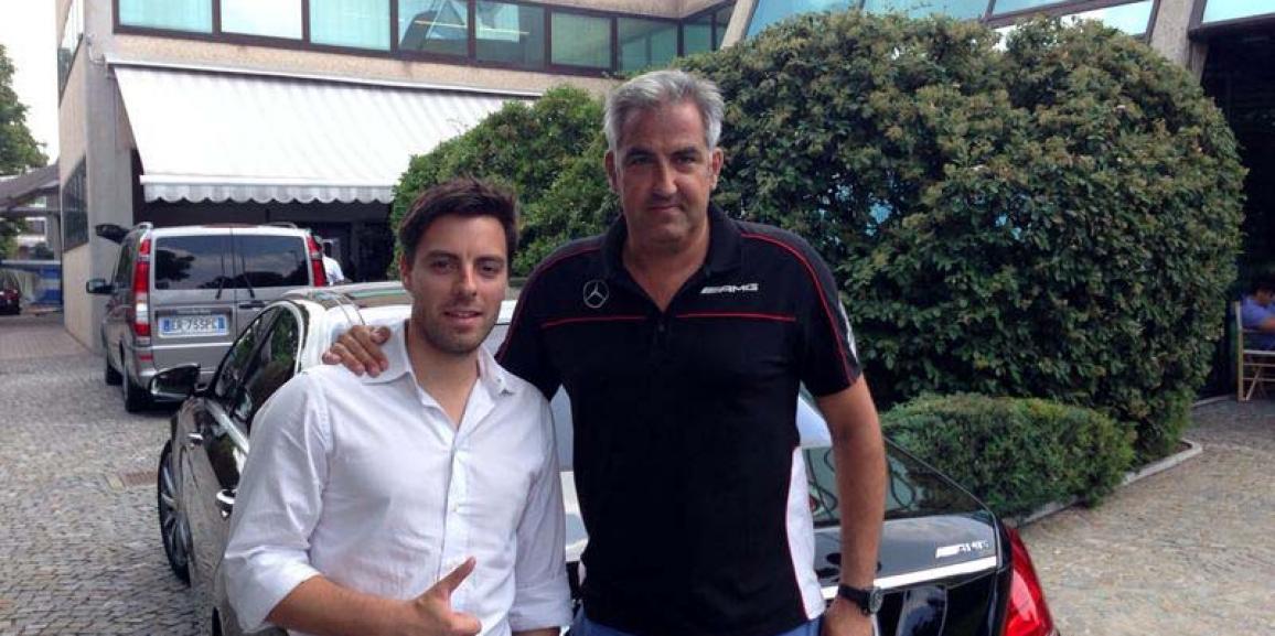 Federico Crozzolo incontra Martin Heiss Responsabile CR della Mercedes AMG