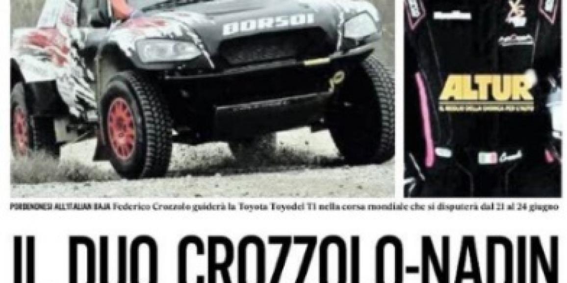 Il Duo Crozzolo-Nadin all'attacco del Mondiale Italian Baja 2018