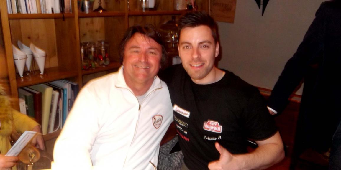 Federico Crozzolo incontra il Campione di Formula1 Renè Arnoux