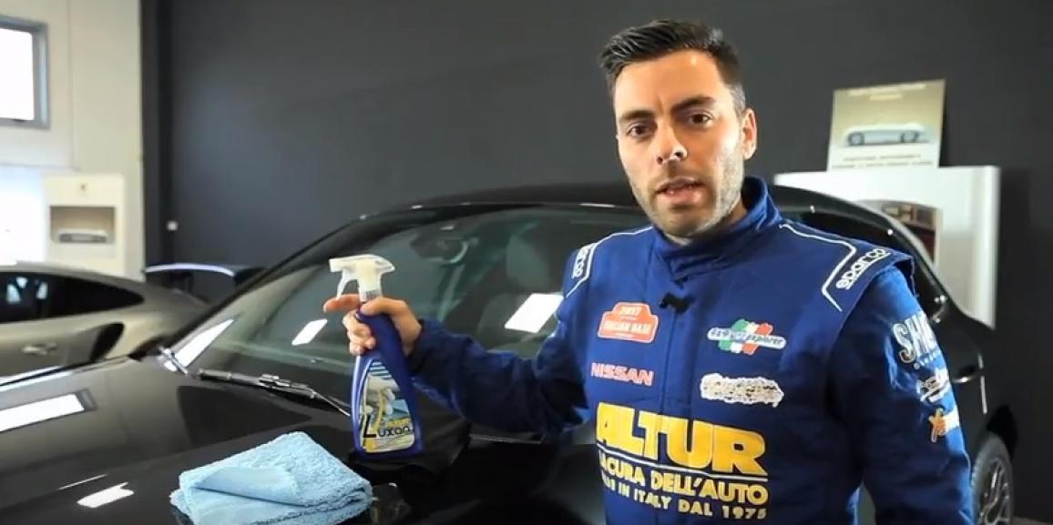 Il Driver Friulano Testimonial dei prodotti ALTUR CAR BEAUTY